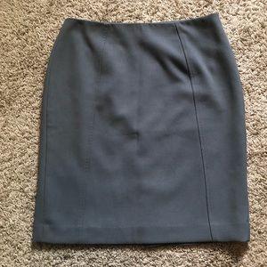 HALOGEN Gray Pencil Skirt